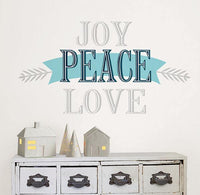 Joy Peace Love Wall Quote - Window Film World
