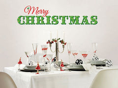 Merry Christmas Wall Quote - Window Film World