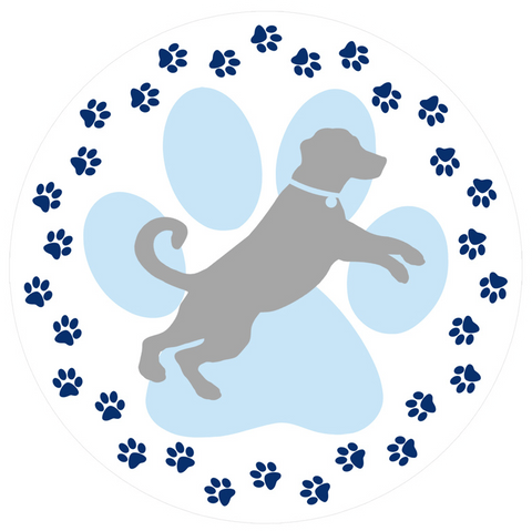 Dog Paw Prints Screen Door Magnet - Window Film World