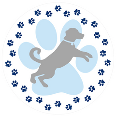 "Dog Paw Prints Screen Door Magnets (5.75"" x 5.75"") - Window Film World"