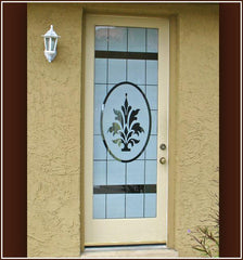 Doral Etched Glass | Semi Privacy Window Film (Static Cling) - Window Film World