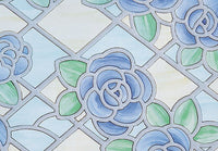 Amiens Blue Stained Glass | Semi Privacy (Adhesive) - Window Film World