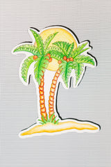"Palm Tree Screen Door Magnets (5""x 6.5"") - Window Film World"