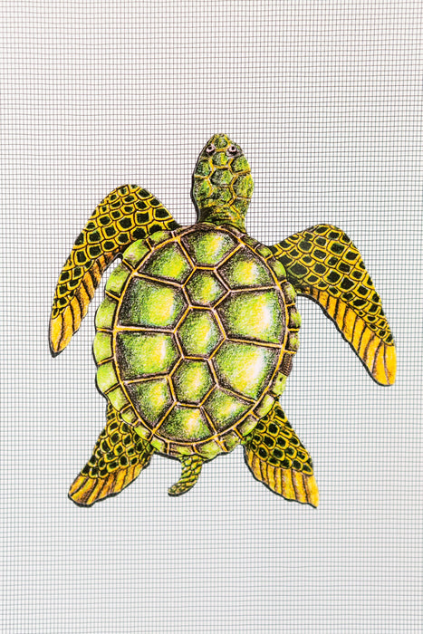 "Sea Turtle Screen Door Saver Magnets (5"" x 5.25"") - Window Film World"