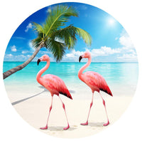 "Flamingo Beach Screen Door Magnet ( 5.75"" x 5.75"") - Window Film World"