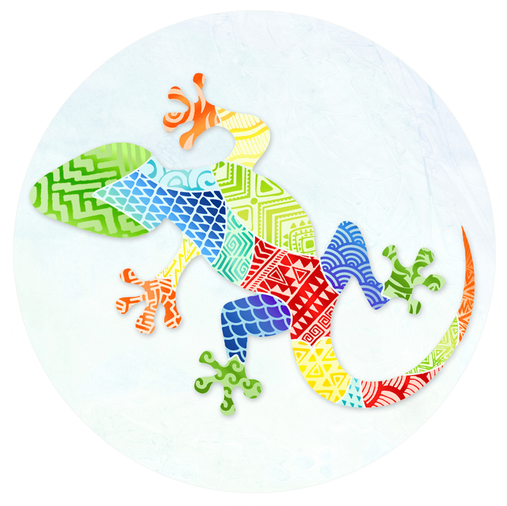 Gecko Zentangle Screen Door Magnets (5.75