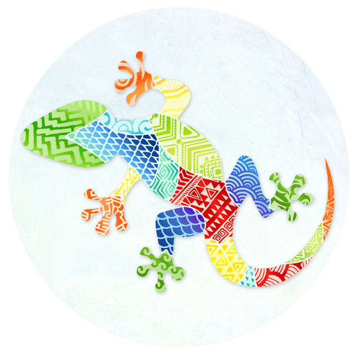 "Gecko Zentangle Screen Door Magnets (5.75"" x 5.75"") - Window Film World"