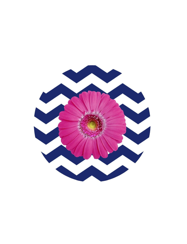 Gerbera & Chevron Screen Door Magnets (5.75