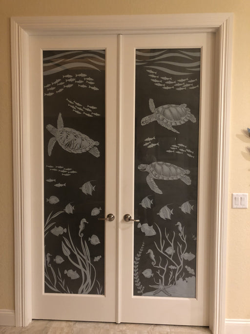 SeaCove | Etched Glass Glass See - Through or  Privacy Window Film(Static Cling) - Window Film World