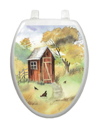 Watercolor Outhouse Toilet Tattoos - Window Film World
