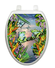 Frogs in the Moonlight Toilet Tattoo - Window Film World