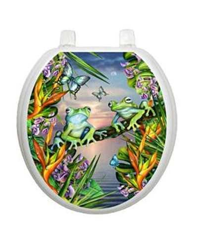 Frogs In The Moonlight Toilet Tattoos Toilet Seat Decal