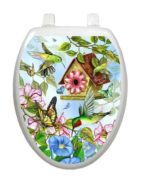 Hummingbirds Toilet Tattoos - Window Film World