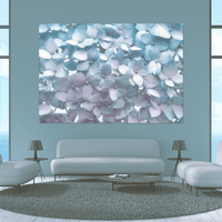 Light Blue Wall Mural - Window Film World