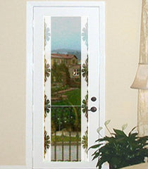 Lily Border Etched Glass Decals - Window Film World