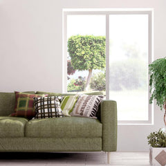 Linen Textured | Privacy Static Cling Film - Window Film World