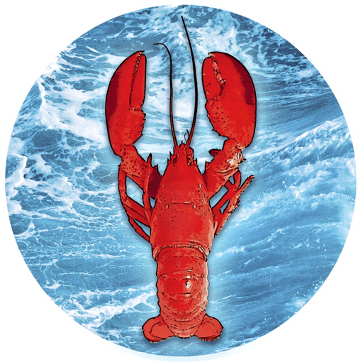 "Lobster & Ocean Screen Door Magnets (5.75"" x 5.75"") - Window Film World"