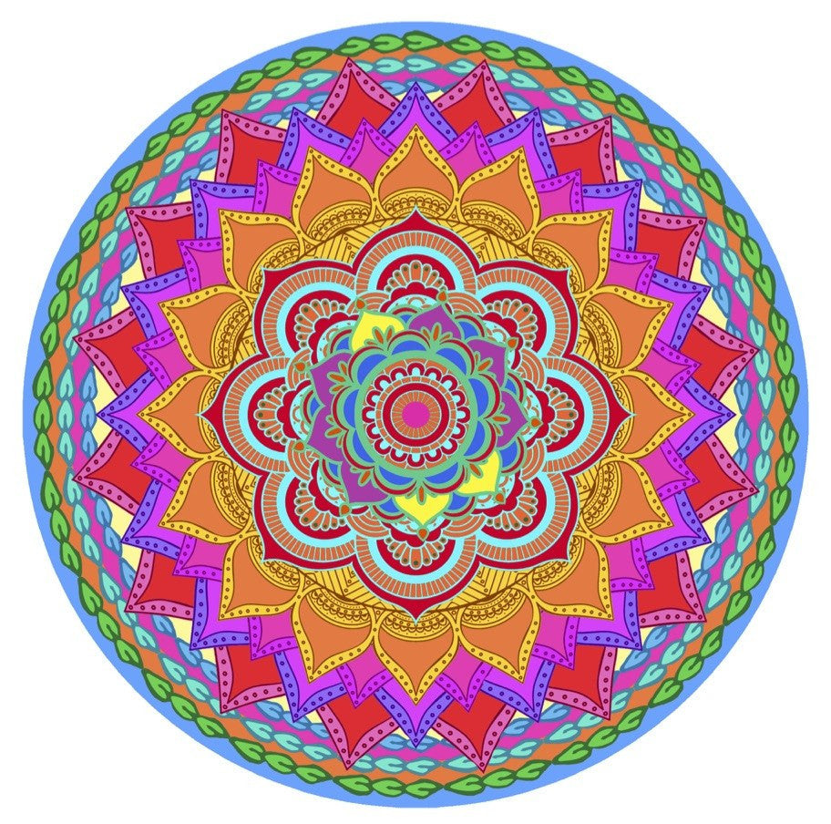 "Mandala Rainbow Glass Door Decal (5.75"" x 5.75"") - Window Film World"