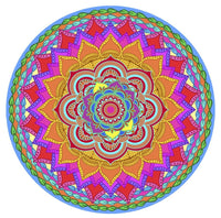 "Mandala Rainbow Screen Door Magnets (5.75"" x 5.75"") - Window Film World"