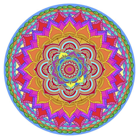 Mandala Rainbow Screen Door Magnet (5.75x5.75) - Window Film World