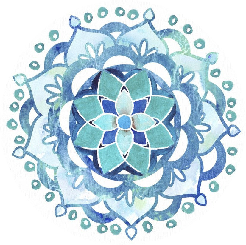 Mandala Blue Screen Door Magnet (5.75x5.75) - Window Film World