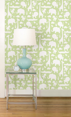 Green Its A Jungle In Here Peel And Stick Wallpaper - Window Film World