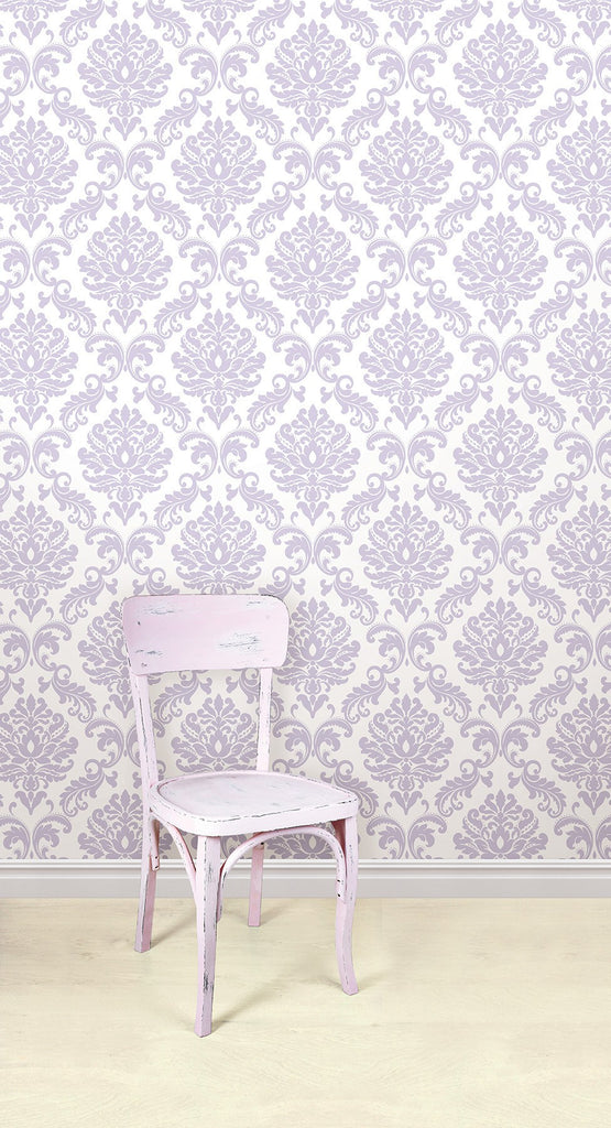 Purple Ariel Peel And Stick Wallpaper - Window Film World