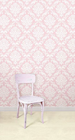 Pink Ariel Peel And Stick Wallpaper - Window Film World