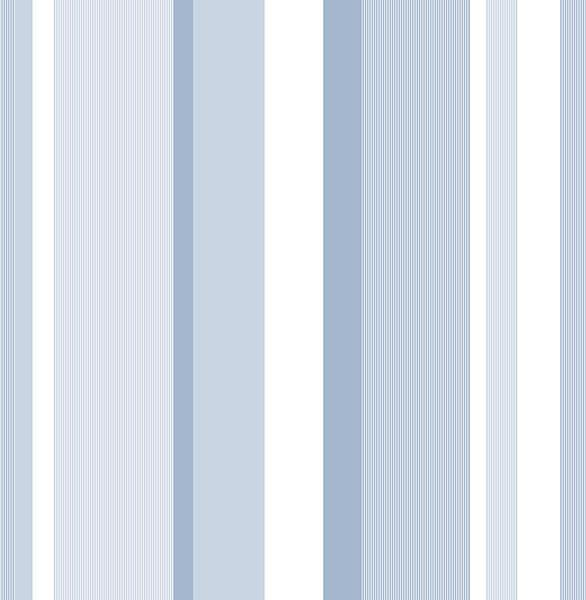 Blue Awning Stripe Peel And Stick Wallpaper - Window Film World