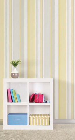 Yellow Awning Stripe Peel And Stick Wallpaper - Window Film World