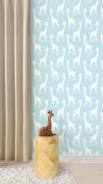 Turquoise Savannah Soiree Peel And Stick Wallpaper - Window Film World