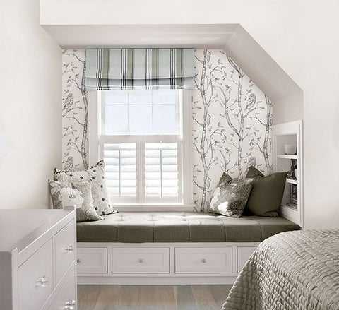 Gray Woods Peel And Stick Wallpaper - Window Film World