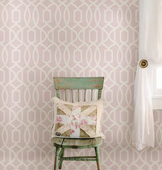 Pink Grand Trellis Peel And Stick Wallpaper - Window Film World