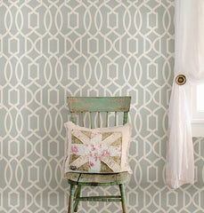 Gray Grand Trellis Peel And Stick Wallpaper - Window Film World
