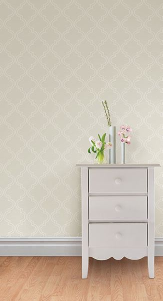 Taupe Quatrefoil Peel And Stick Wallpaper - Window Film World