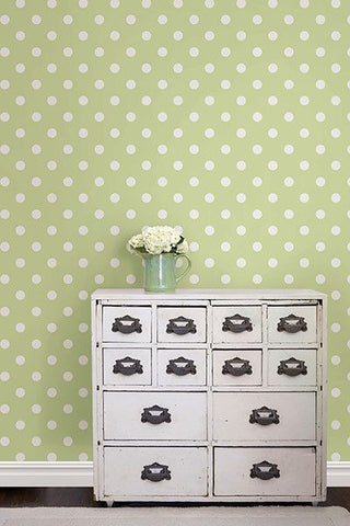 Green Dottie Peel And Stick Wallpaper - Window Film World