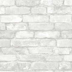 Grey and White Brick Peel And Stick Wallpaper - Window Film World