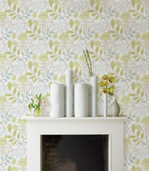 Blue and Green Meadow Peel And Stick Wallpaper - Window Film World