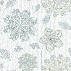 Gypsy Floral Blue/Green Peel and Stick Wallpaper - Window Film World