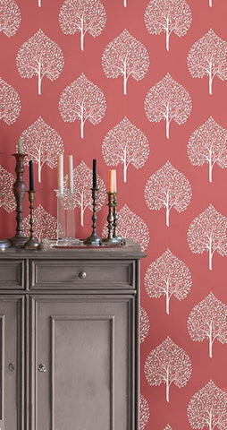 Grove Coral Peel and Stick Wallpaper - Window Film World