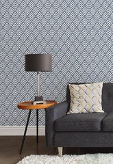 Arrowhead Deep Blue Peel and Stick Wallpaper - Window Film World
