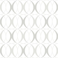 Circulate Light Silver Peel and Stick Wallpaper - Window Film World