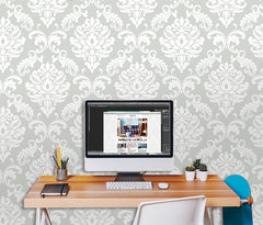 Ariel Grey Peel and Stick Wallpaper - Window Film World