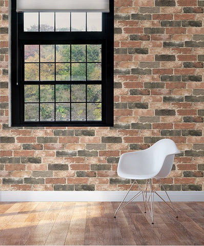 Newport Reclaimed Brick Peel and Stick Wallpaper - Window Film World