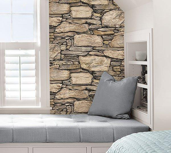 Hadrian Stone Wall Peel And Stick Wallpaper