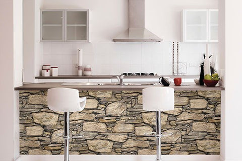 Hadrian Stone Wall Peel and Stick Wallpaper - Window Film World