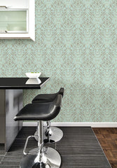 Nomad Damask Peel and Stick Wallpaper - Window Film World