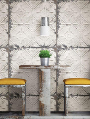 Vintage Tin Tile Peel and Stick Wallpaper - Window Film World