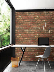 West End Brick Peel and Stick Wallpaper - Window Film World