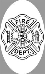 "4"" x 6"" Fire Department Decal 